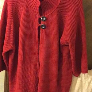 Ruby red sweater Size 1X EUC